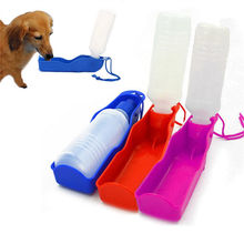 Portable Water Feeding Bottle with container for Dogs and Cats