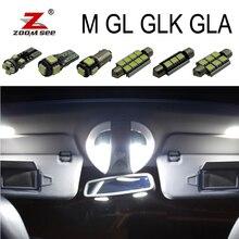 Хороший Canbus Белый светодиодный внутренняя карта купола лампочки набор для Mercedes Benz ML GL GLK gla W163 W164 W166 X164 X166 X156 X204
