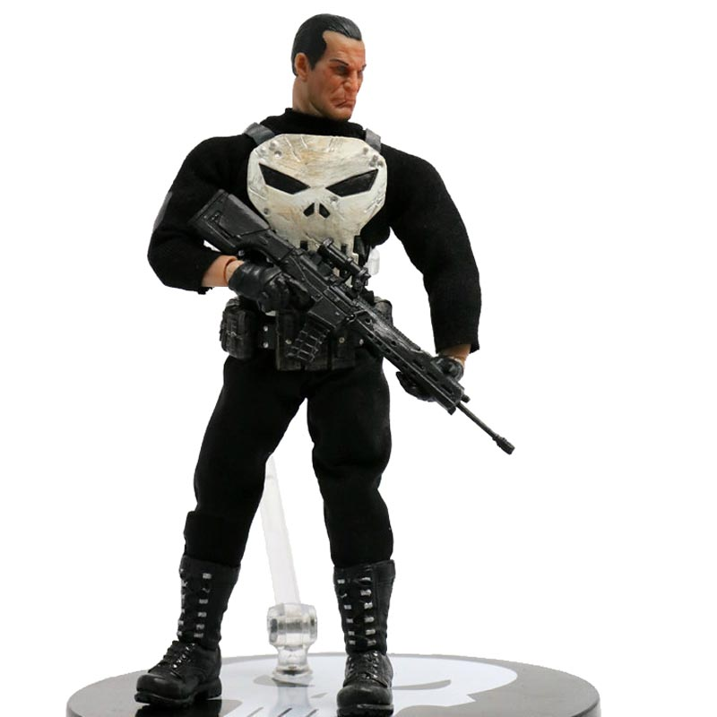 MEZCO The Punisher Frank Castle 1/12 Scale PVC Action Figure Collectible Model Toy 6 16cm the punisher action figures 1 12 scale pvc action figure collectible model toy anime punisher superhero toys