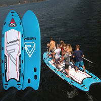 Mega 18'1 inflatable big stand up paddle board for big giant ISUP