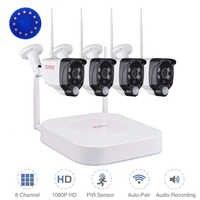 Tonton 1080P Wireless Security camera system 8CH NVR Audio Record 2MP Outdoor Wifi IP CCTV Cameras PIR Sensor Surveillance Kits