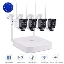 Tonton 1080P Wireless Security kamera system 8CH NVR Audio Record 2MP Outdoor Wifi IP CCTV Kameras PIR Sensor Überwachung kits