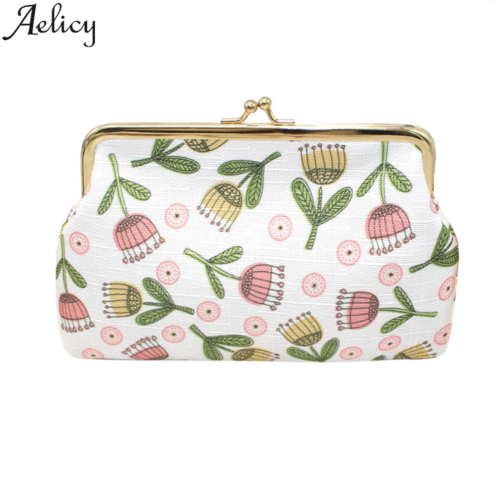 Aelicy Coin Purse Wallet Clutch-Bag Card-Holder Women Print Chain Change-Keys Credit-Cards