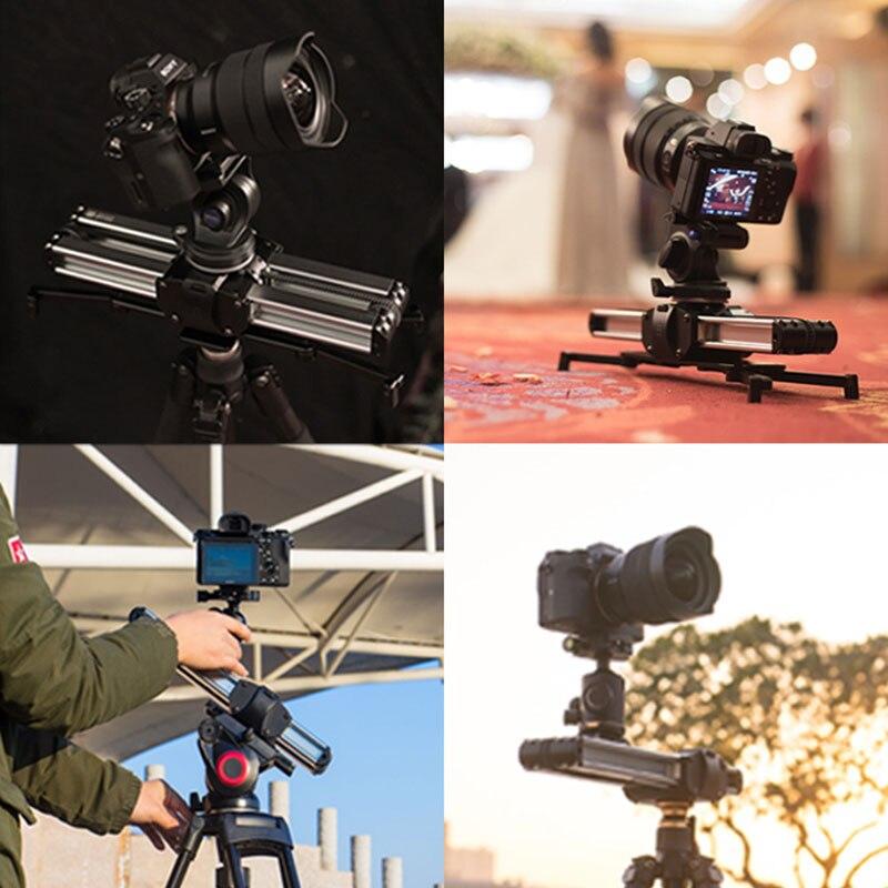Mirco 2 caméra curseur piste Dolly curseur système de Rail professionnel Portable Mini voyage vidéo curseur pour DSLR BMCC rouge ARRI mini - 3