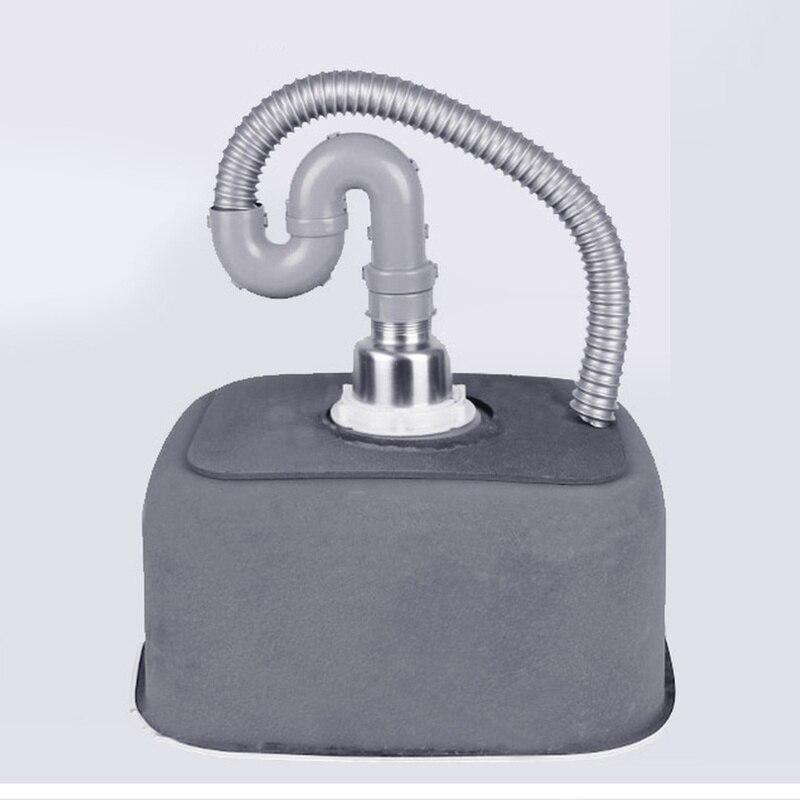 Évier de cuisine fait à la main 41*37*19 CM en acier inoxydable brossé simple bol évier de cuisine avec égouttoir sans robinets de cuisine mx4121715 - 5