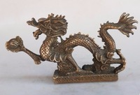 Dragon Brass statue Home Decoration Metal Crafts Fine hand carved copper/bronze sculpture Feng Shui Collection
