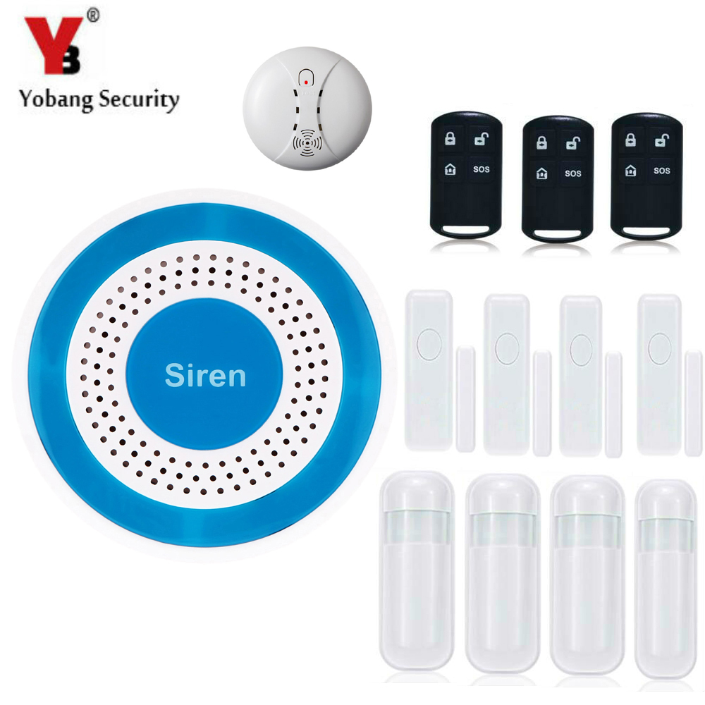 YobangSecurity 433Mhz Wireless Anti-Theft Voice Alarm System For Home Security PIR Detector Door Window Sensor yobangsecurity wireless door window sensor magnetic contact 433mhz door detector detect door open for home security alarm system