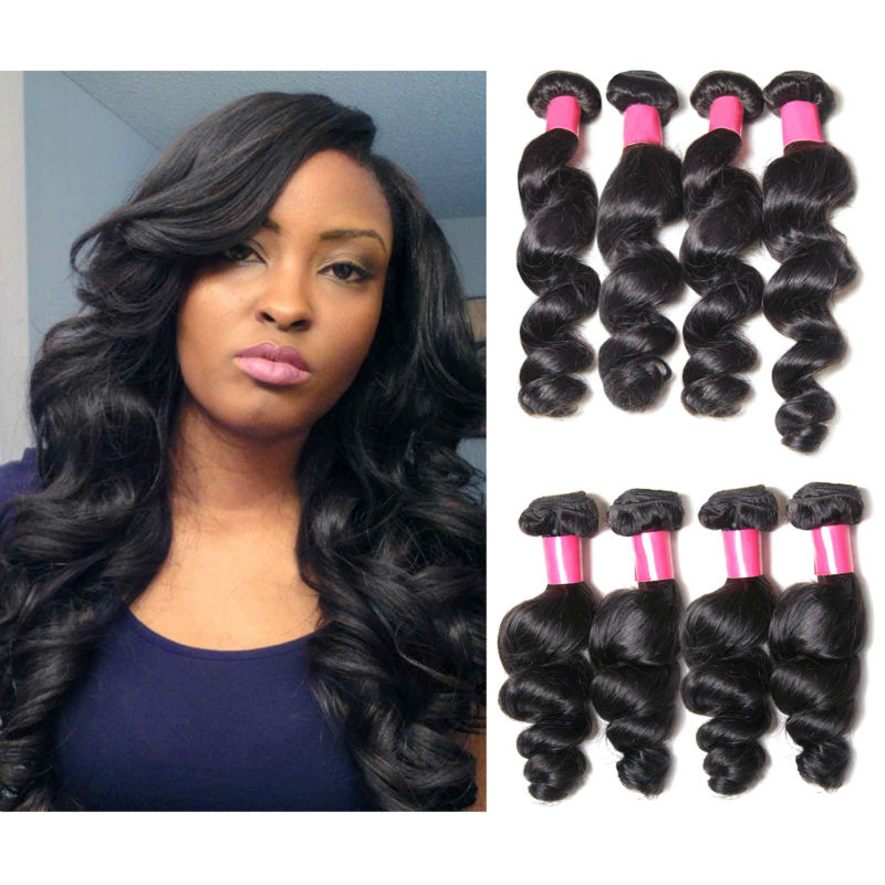 Diseta Hair 4pcs Peruvian Milky Way Loose Deep Wave Hair Brazilian