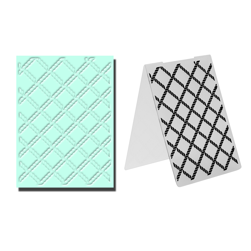 Lattice Pattern Plastic Embossing Folder Template for Scrapbook DIY Photo Album Card Decoration  Template Hand Craft 1pcs plastic embossing foldet flower diy scrapbooking photo album card paper craft decoration template