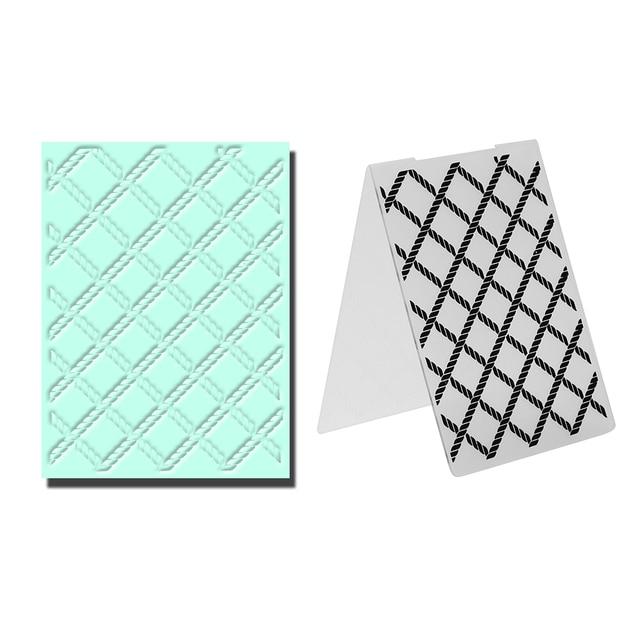 Gitter Muster Kunststoff Prägung Ordner Vorlage für Sammelalbum DIY ...