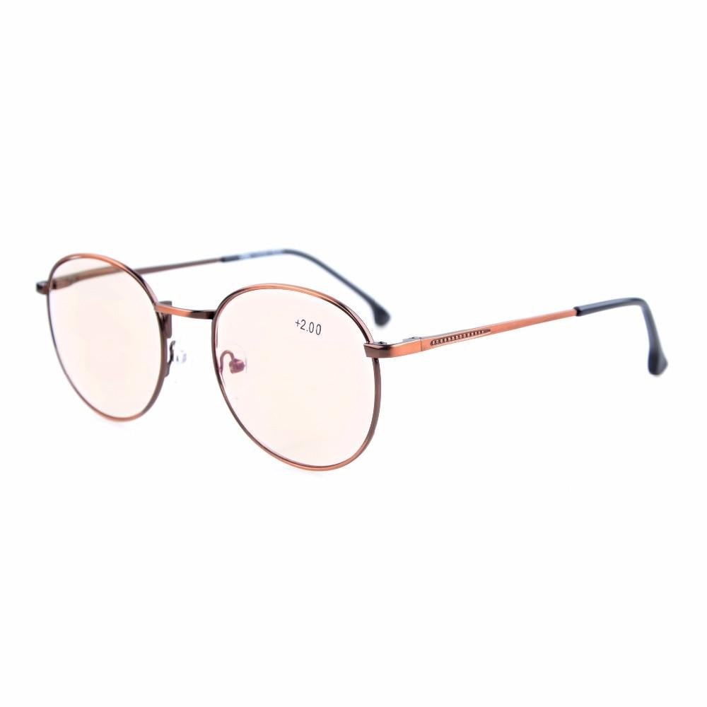 91514d302f CG1619 Eyekepper Anti Glare Glasses Amber Tinted Lenses Quality Spring  Hinges Large Round Retro Computer Reading
