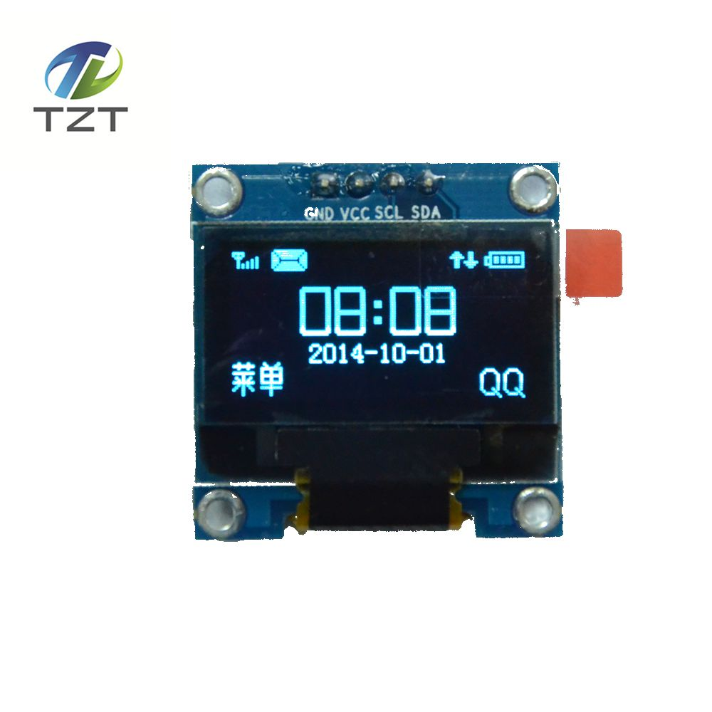 1pcs  blue color 0.96 inch 128X64 OLED Display Module For arduino 0.96 IIC SPI Communicate