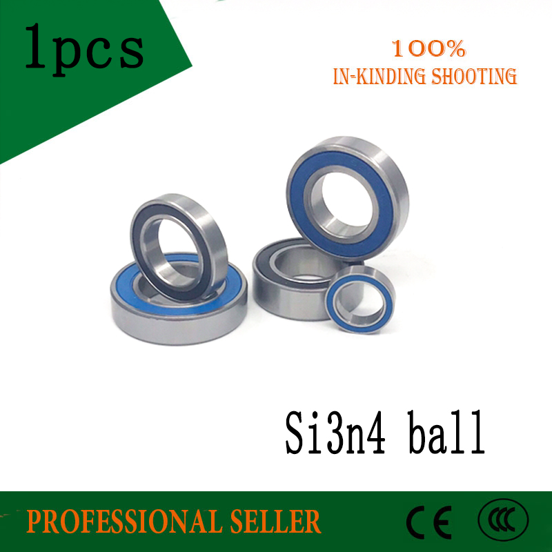Free shipping 1PCS 6802 6803 6804 6805 6806 2RS SI3N4 ball hybrid ceramic deep groove ball bearing цена и фото