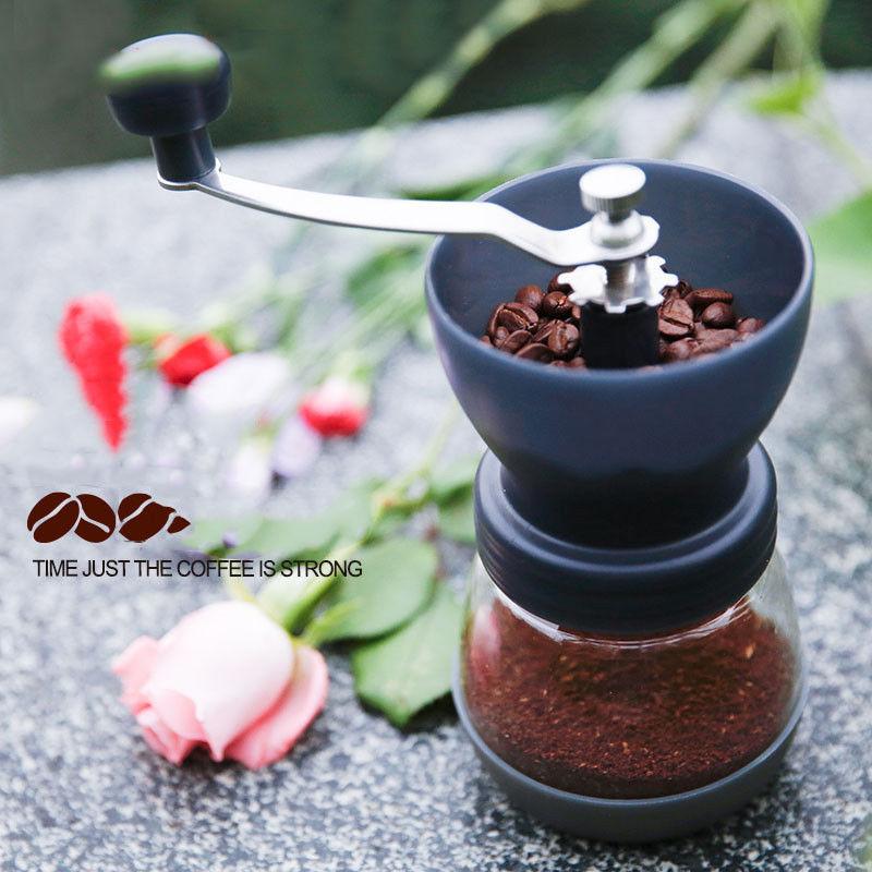 все цены на Manual Coffee Grinder with Storage Jar Conical Ceramic Burr Easy Clean Beans Grinding Machine Milling Grinder
