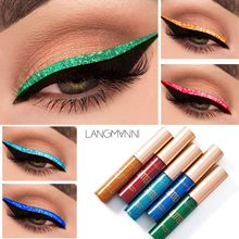LANGMANNI 10 Colors Makeup Liquid Eyeliner Pen Glitter Eyeshadow Highlighter Long-lasting Easy to Wear Make Up Beauty Cosmetics