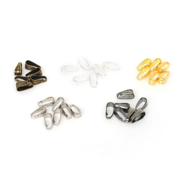 100pcs/lot Pendant Clips Pendant Clasps Pinch Clip Bail Pendant Connectors For Jewelry Making DIY jewely Finding