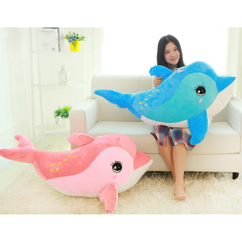 Fancytrader Giant Animal Dolphin Pillow Doll Plush Soft Stuffed 31'' Kids Toy Baby Gift 80cm 2 Colors fancytrader giant stuffed plush donkey toy big soft animal donkey pillow doll for sale nice birthday gift