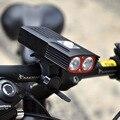 Светодиодный фонарь для велосипеда XM-L T6  перезаряжаемый от USB  водонепроницаемый  передний  4 режима