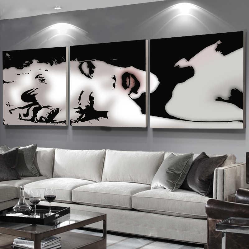 3 لوحة الحديثة قماش اللوحة ديكور المنزل صورة فنية الطلاء على قماش يطبع اللوحة مثير مارلين مونرو طلاء جدران