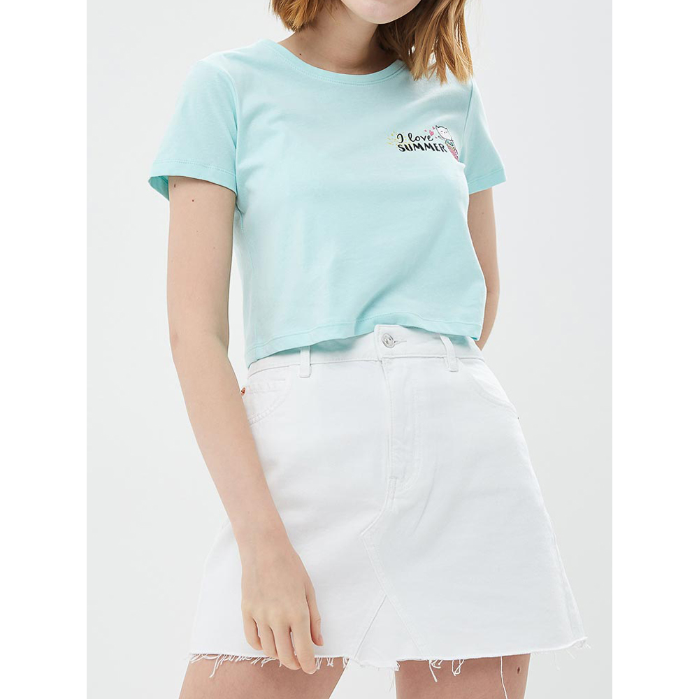 T-Shirts MODIS M181W00861 women shirt cotton for for female TmallFS t shirts t shirt befree for female cotton shirt short sleeve women clothes apparel 1811579424 4 tmallfs