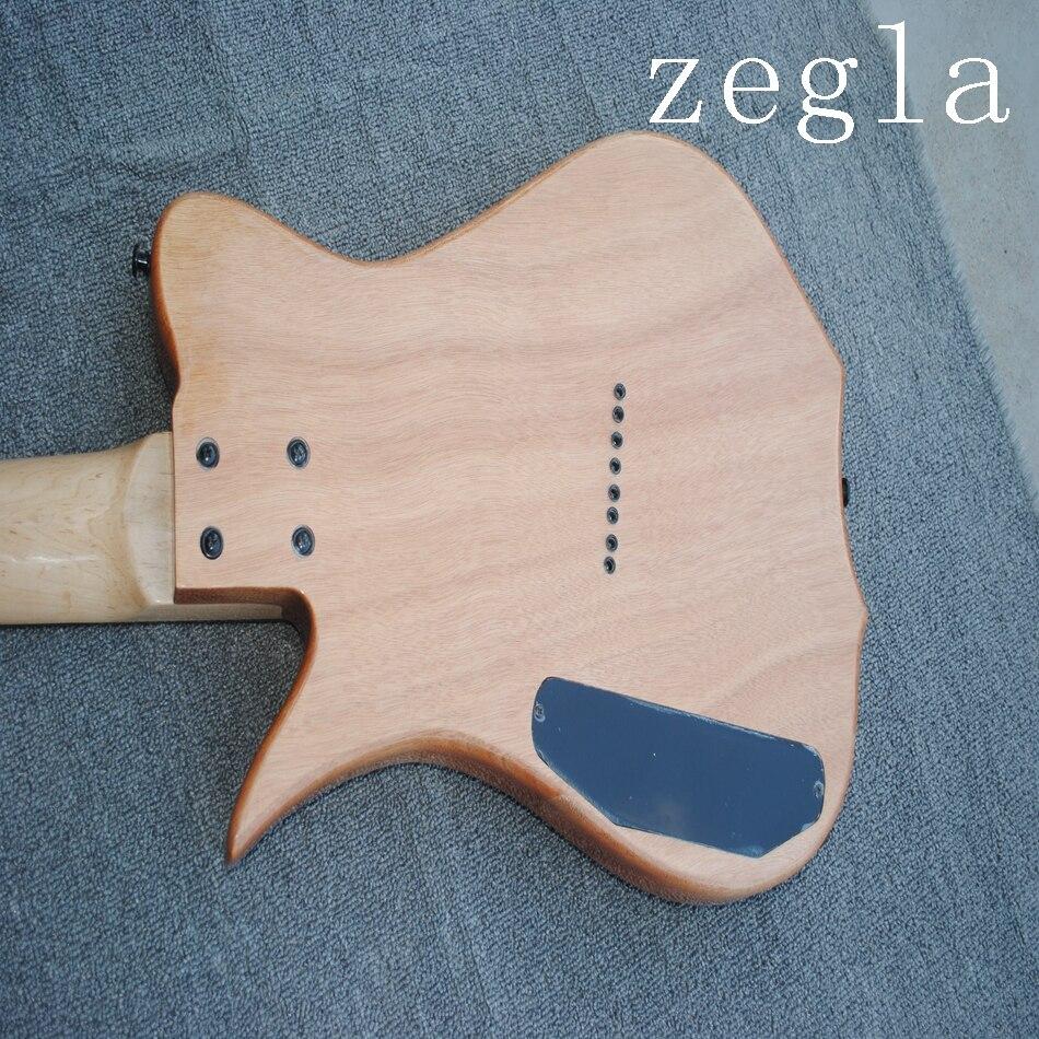 Guitare électrique classique à 8 cordes, placage de grain de carte, couleur naturelle en bois, diagonale, accessoires noirs livraison gratuite, - 6