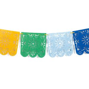 Image 2 - New arrival Novelty 1x Mexican Papel Picado Banner Flags Garland Wedding Spanish Mexican Party Decor for party anniversary