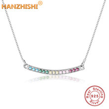 2018 Summer Collection 925 Sterling Silver Rainbow Arcs of Love Necklace for Women Girl Fashion DIY Jewelry Making Berloque Gift