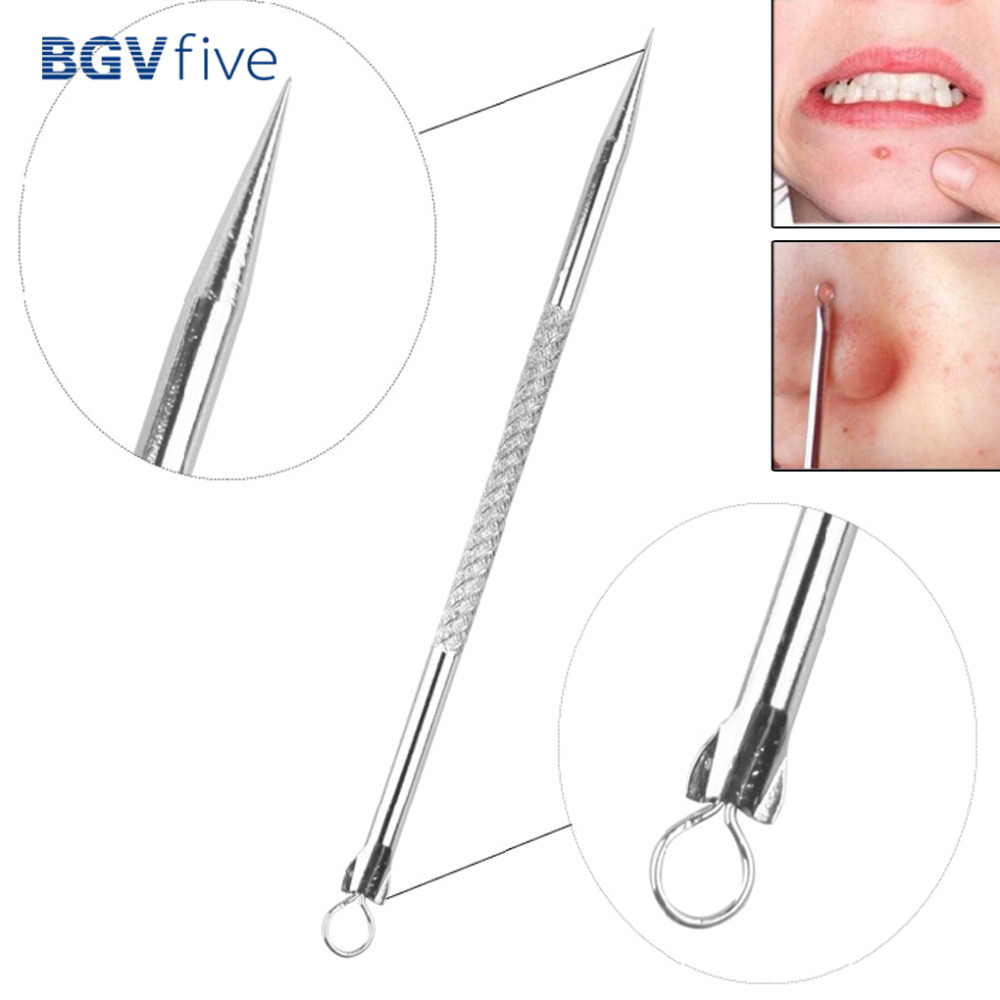 1pc/2pc/10pcs Blackhead Comedone Acne Pimple Blemish Extractor Remover Stainless Needles Makeup Tools