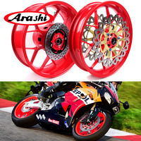 Arashi For HONDA CBR1000RR 2008 2016 Front Rear Wheel Rim CBR1000 CBR 1000 RR 08 09 10 11 12 13 14 15 16 Front Rear Brake Disc