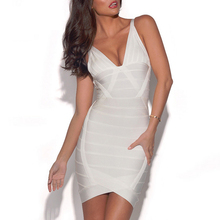 V Neck Backless Bandage Party Dress