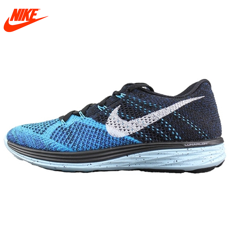 Original New Arrival Authentic Nike FLYKNIT LUNAR 3 Men's Mesh Light Running Shoes Sneakers