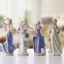 Hot Sell Female Ornaments Ceramic Crafts  European Women's Sculpture Home Furnishing European Style Living Room Decoration