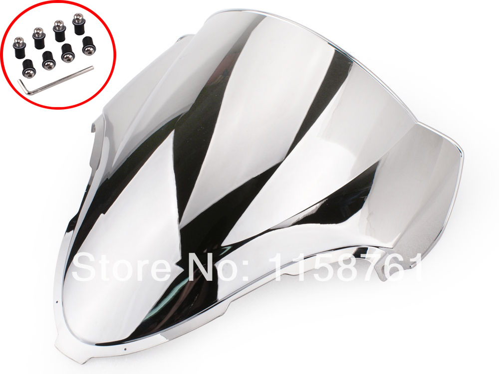 Free Shipping Chrome Windscreen Windshield for Suzuki 1999-2007 Hayabusa GSX1300R GSXR 1300 aftermarket free shipping motorcycle parts frame slider crash protector for suzuki 1999 2007 hayabusa gsxr 1300 gsx1300r chrome