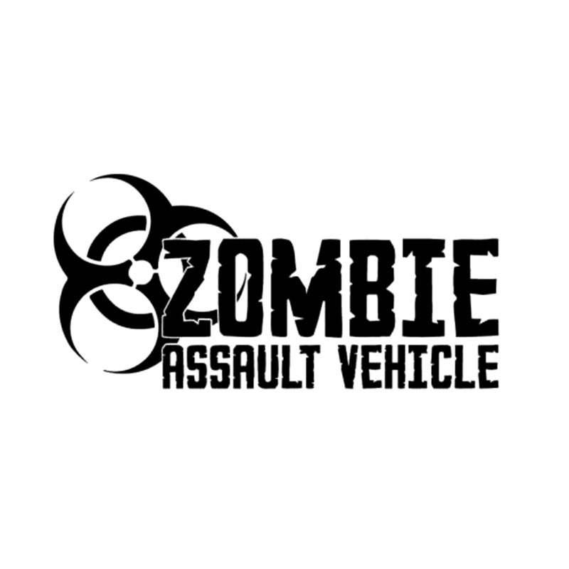 20.3CM*10CM Zombie Assault Vehicle Bio Hazard Vinyl Car Styling Accessories Stickers And Decals Black/Sliver C8-1341