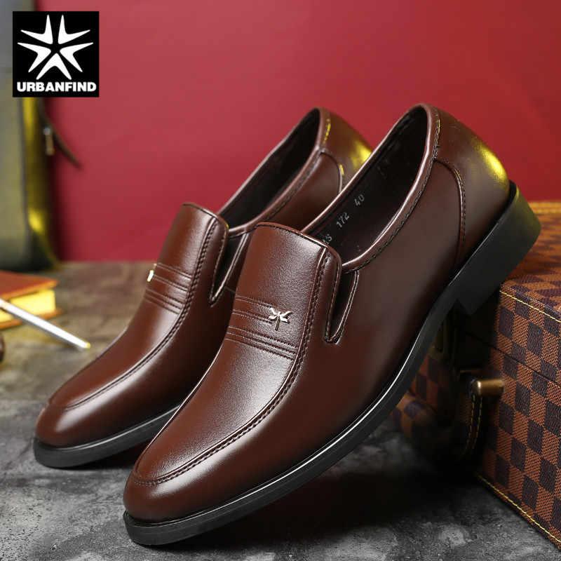 URBANFIND Mannelijke Schoenen Mannen Kleding Schoenen Business Klassieke Vierkante Teen Schoenen Mannen Formele Schoenen Slip-On Oxfords