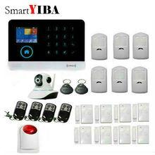 SmartYIBA APP Control WIFI 3G GPRS SMS Home Alarm System Motion Detection Alam RFID 3G Alarm With IP Camera Strobe Siren Kit