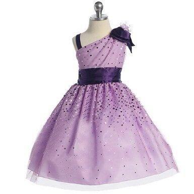 2015 Tutu   Flower     Girl     Dresses   Lavender A-Line Scoop robe de mariage first communion robe enfant avec traine FL_038