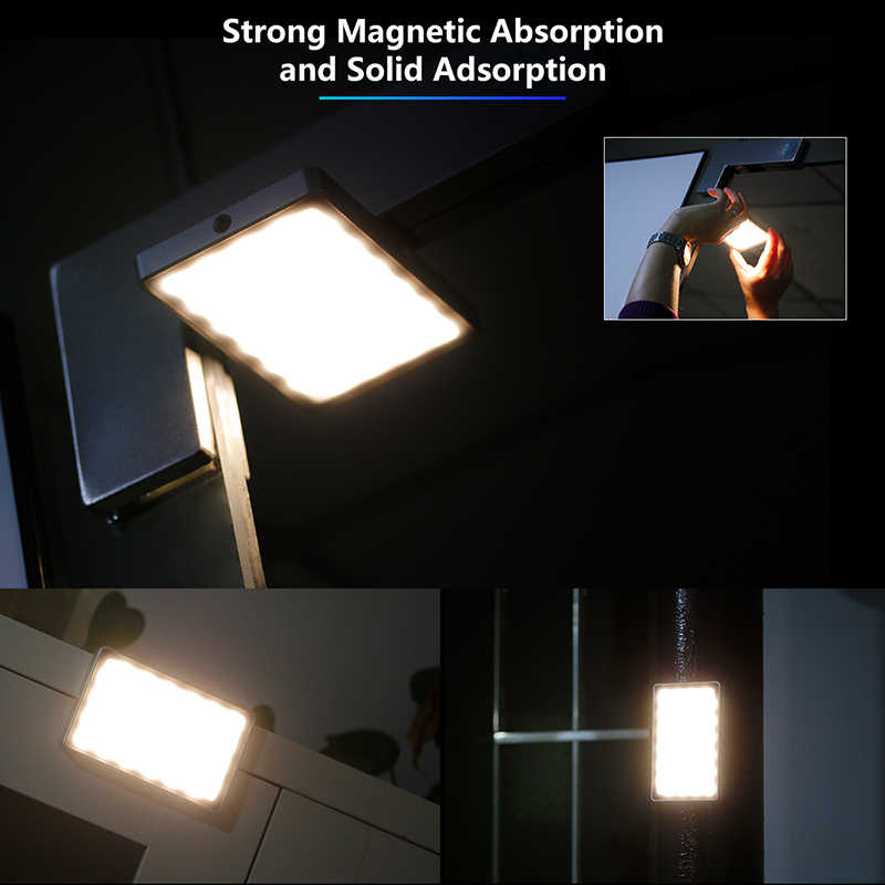 VIJIM VL-1 מיני LED וידאו אור מגנטי Dimmable צילום תאורה על מצלמה 96 נוריות מנורת W קר נעל גבוהה CRI96