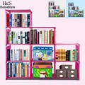 Homdox Fashion Korean Bookshelf Home Furniture Adjustable Bookcase Storage Bookshelf with 9 Book Shelves