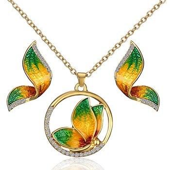 Women's Butterfly Design Jewelry Set Hot Promotions Jewelry Jewelry Sets Women Jewelry Metal Color: 5