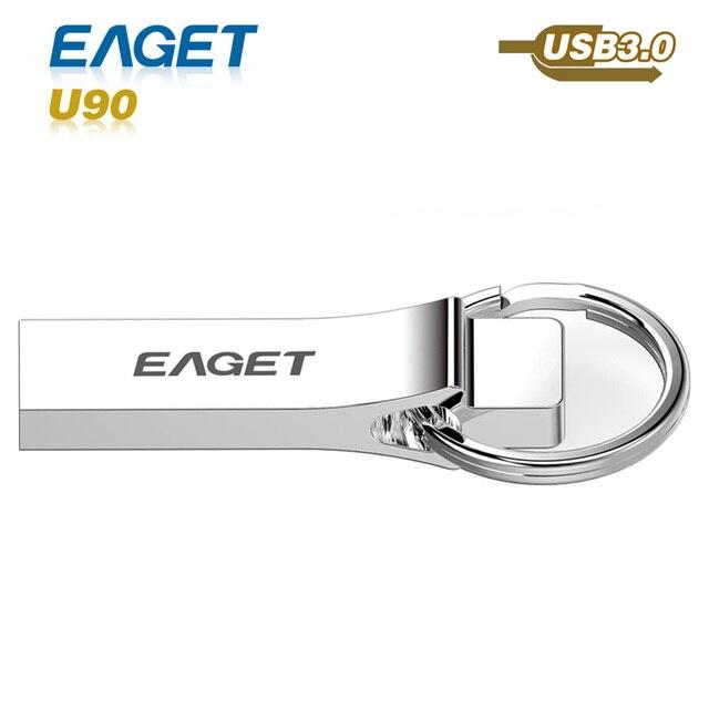 EAGET usb flash drive 3.0 U90 usb 3.0 pass h2test 16GB 32GB 64GB  pen drive waterproof shockproof External Storage pendrive
