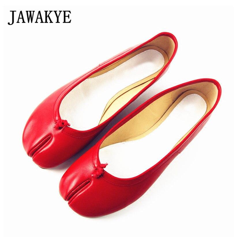 JAWAKYE New Split toe shoes Women