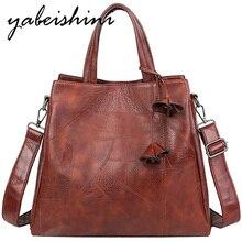 купить Large capacity brown handbag 2019 Fringed flower sac a main femme tote women leather handbags shoulder bag women luxury bags по цене 1067.5 рублей