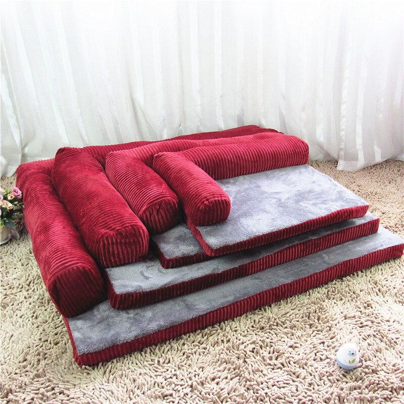 Luxury Large Dog Bed Sofa Dog Cat Pet Cushion For Big Dogs Washable Nest Cat Teddy