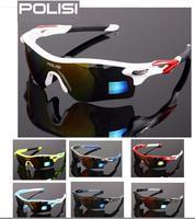 POLISI Polarized Cycling Glasses Bike Driving Fishing Sunglasses Goggles 4 Lens