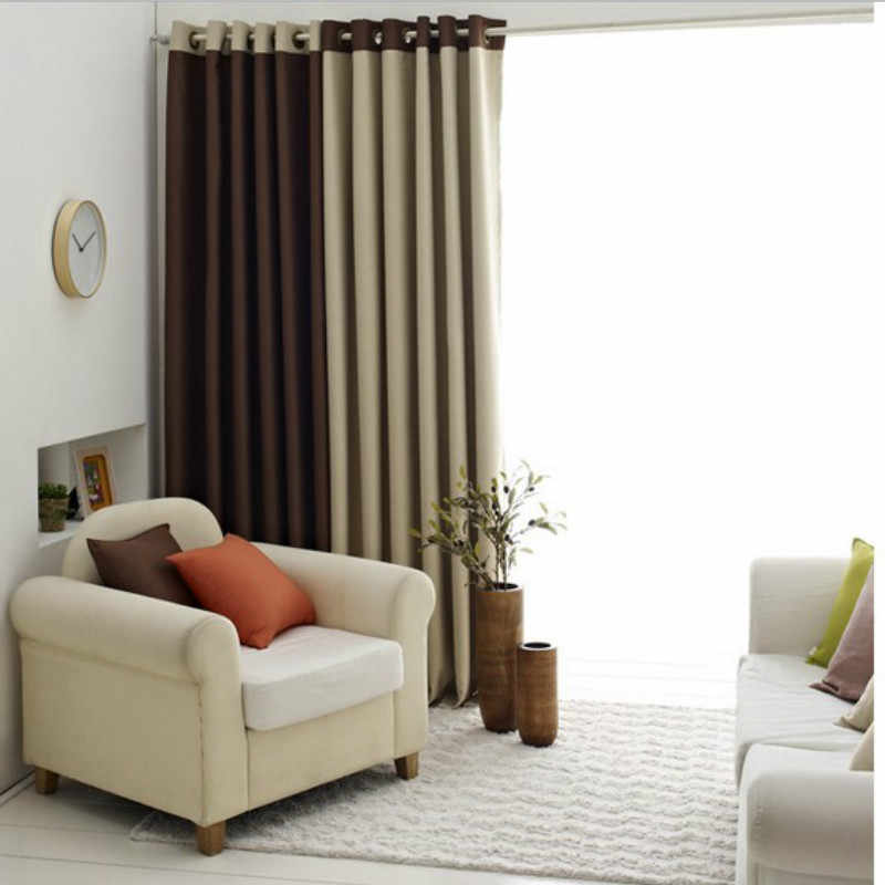 Curtains for Bedroom Living Room Windows Dining Simple and Clean Environmental Blackout European Tulle Solid Color