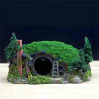 28.5*18*15cm Artificial Hobbit House Creative Aquarium Rockery Landscaping Castle Decorations Lovely Home Supplies Dropshipping