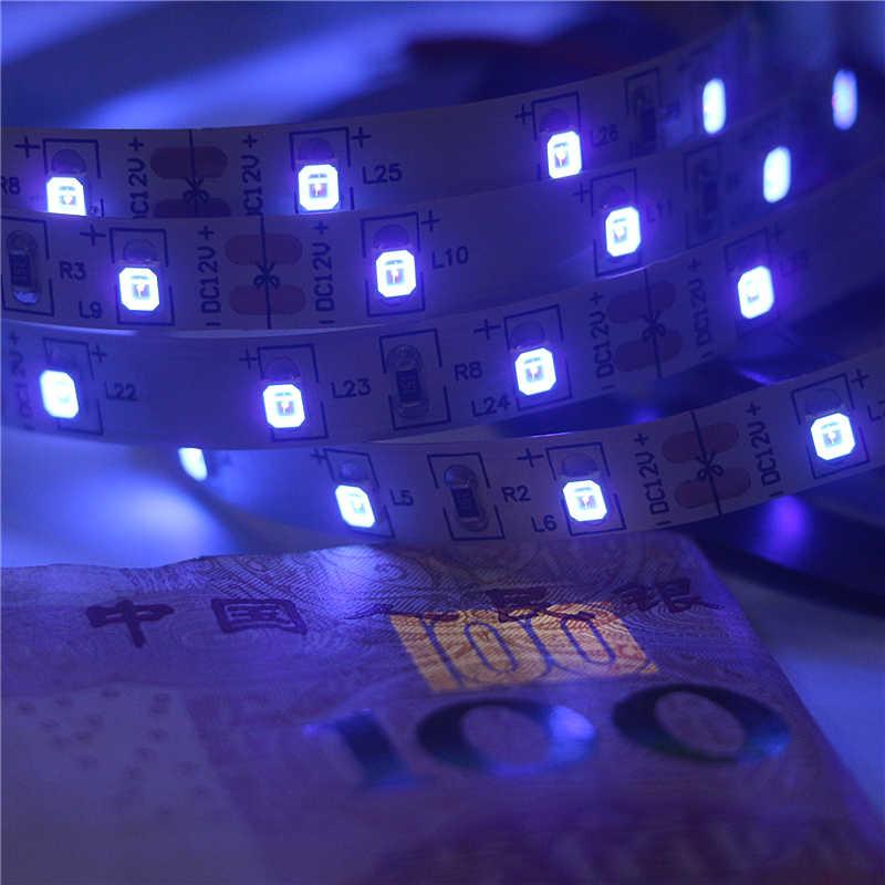 12 220V UV 紫外線 395-405nm led ストリップライト 2835/3528 SMD 60led/m IP20 IP65 防水テープランプ dj 蛍光パーティー
