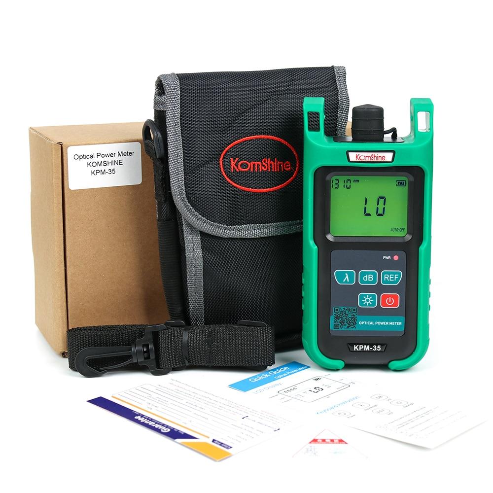 6 calibrated wavelengths optic fiber power meter KomShine KPM-35 FTTH fiber cable test tool Interchangeable FC+SC Connector