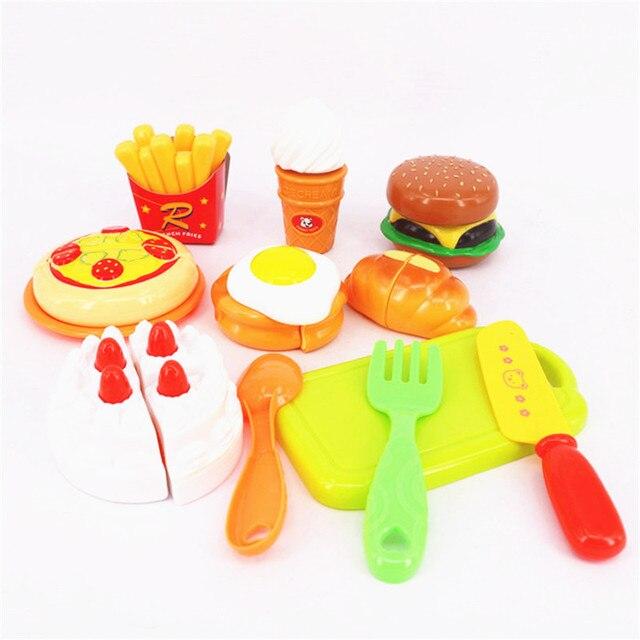 23 Piezas De Cocina De Plastico Juguetes Y Alimentos Pastel De